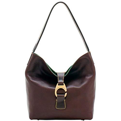 Dooney & Bourke Derby Florentine Hobo Shoulder Bag Brown - Florentine Leather Purse
