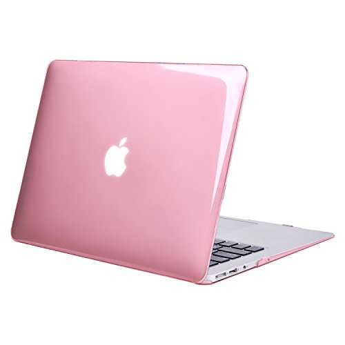 MOSISO Plastic Hard Shell Case Cover Compatible MacBook Air 11 Inch (Models: A1370 & A1465), Crystal Pink