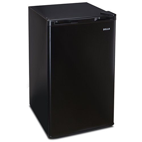 Della Compact Refrigerator Freezer Energy Saving Dorm Room Small Office, 3.2 Cubic Feet, Black