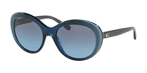 COACH Women's 0HC8259 54mm Blue Laminate/Gray Blue Gradient One Size (Blue Coach Sunglasses)