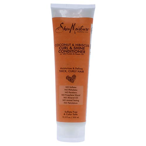- Shea Moisture Coconut and Hibiscus Curl and Shine Conditioner, 10.3 Ounce