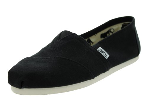 TOMS Women's Canvas Slip-On,Black,7 M (Queen Of Hearts Shoes)