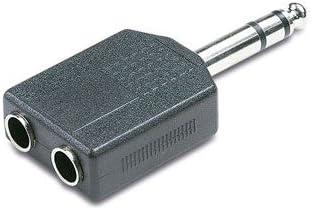 Adattatore Spina JACK 6.3mm Stereo cuffia 2 Presa RCA doppia