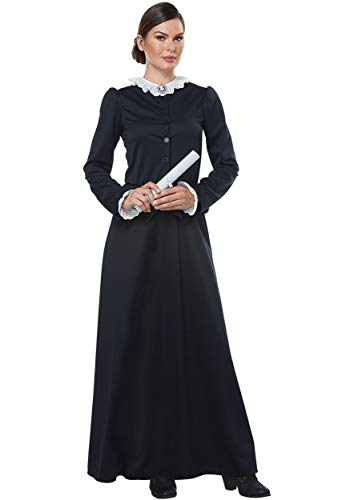 California Costumes Women's Susan B. Anthony - Harriet Tubman - Adult Costume Adult Costume, -black/White, -
