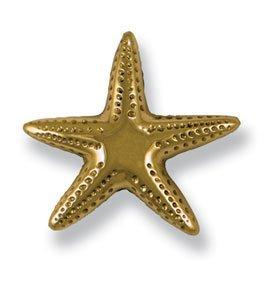 Starfish Doorbell Ringer - Brass by Michael Healy Designs