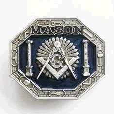 Freemason Mason Square and Compass Belt Buckle