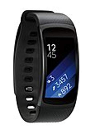 Samsung SM-R3600DAAXAR Gear Fit 2 Activity Tracker Digital Watch - Large - Heart Rate, Steps Taken, Distance Traveled - GPS - Music, Running, Gym, Tracking - Water Resistant (Renewed)