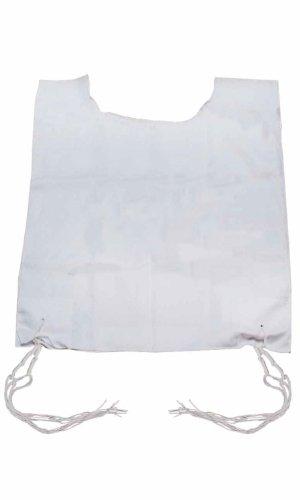 Standard Tallit Bag (GreenfieldÆs 100% Poly Cotton Tallit Kattan Arba Kanfot Slit Neck Two Hole Size 14 with Handmade Thin Tzitzis (50 cm long) Ashkenaz Standard)