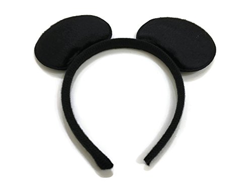Mickey Mouse Costume Dancing (Rush Dance Black Mickey Mouse Ears Birthday Party Favor Bow Accessories Headband)