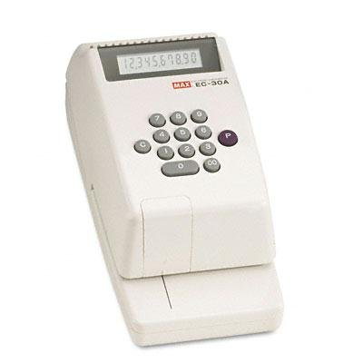 Max - Electronic Checkwriter 10-Digit 4-3/8 X 9-1/8 X 3-3/4 ''Product Category: Office Machines/Checkwriters''