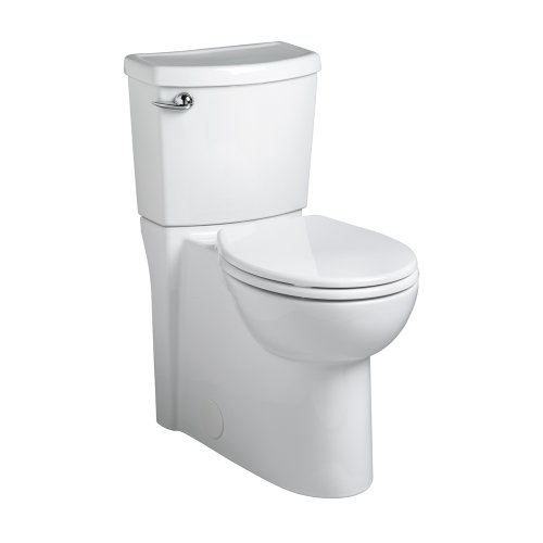 Round High Front Toilet - American Standard 2988.101.020 Concealed Trapway Cadet 3 Right Height Round Front Flowise 1.28 gpf Toilet with Seat, White