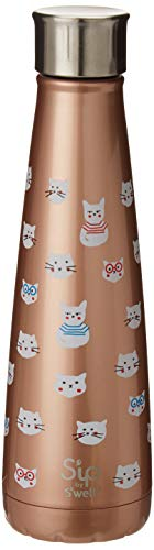 S'ip by S'well 20015-A19-15320 Water Bottle, 15oz, Guilty Kitty