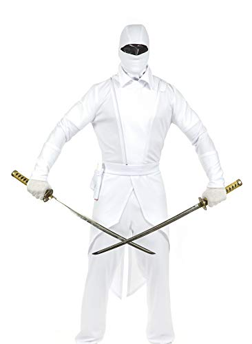 Charades Men's G.I. Ninja, White, X-Large