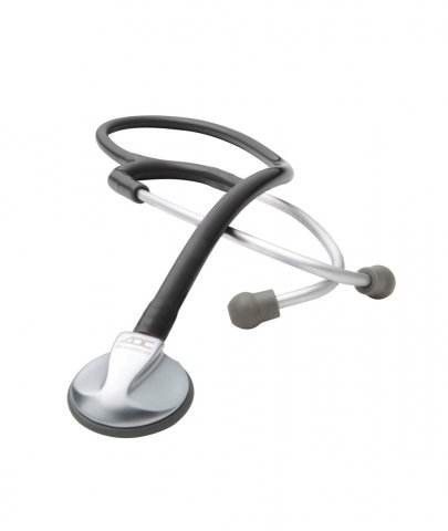 ADC Platinum Adscope Lite 614 Lightweight Pediatric Stethoscope with Tunable AFD Technology, 30.5 inch Length, Black