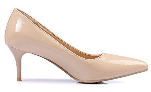 de de KingRover Para Zapatos Charol Mujer Vestir claro rosa 1qttHwWa