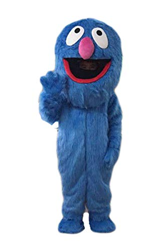 Super Grover Costume Adults (rushopn Sesame Street Super Grover Monster Mascot Costumes)