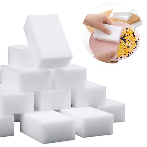 Melamine Sponge,100 Pack Magic Sponge Eraser Extra Thick and Long Lasting Cleaning Sponges in Bulk – Multi Surface Power…