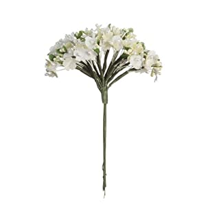 Darice V35694-29 Forget Me Not Cluster of Artificial Flowers Bouquet, Cream 31