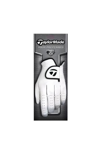 TaylorMade Tour Preferred Cadet  Glove (Left Hand, White/Black, X-Large)