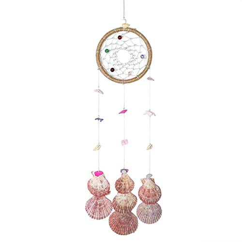 Gold Happy Dream Catcher with Feathers Handmade Dream Catcher Wall Hanging Room Decor Car Home Hanging Craft Wind Chimes & Hanging Decor