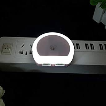 Sensor De Luz Luz De Noche Con Puerto Usb Doble 5V 1A Sala De ...