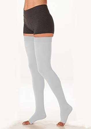 eeb3d8df0e Image Unavailable. Image not available for. Color: Juzo 3512AGPESB06 IV Dynamic  30-40 mmHg Open Toe Thigh High Extra Firm Compression Stockings