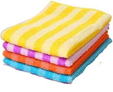 sakoraware® Kitchen Dish Cleaning Cloth Microfiber Towel Hand Napkin Table Wipe (40×30 cm), Set of 4, Multicolour
