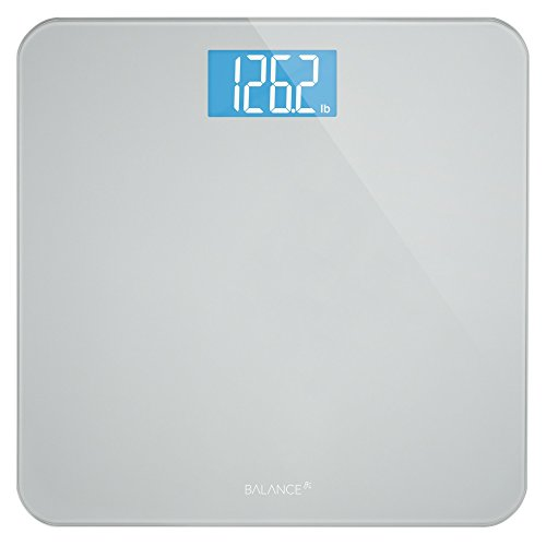 Greater Goods Digital Body Weight Bathroom Scale by Balance, High Accuracy, Large Glass Top, Backlit Display, Precision Measurements (Digital Scale New) (Thinner Scale)