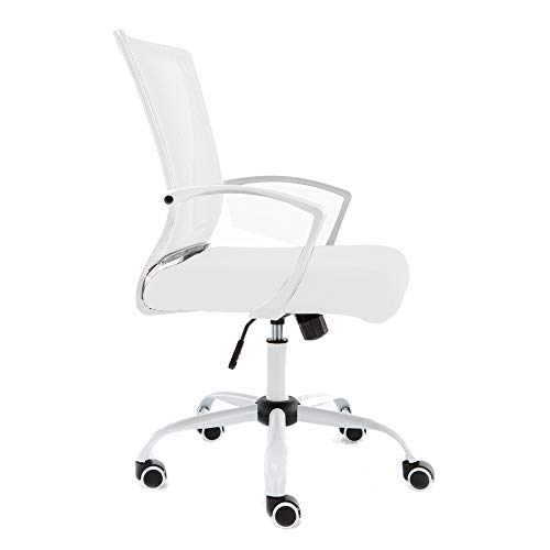 Modern Home WHWHITE Zuna Mid-Back Office Chair, White