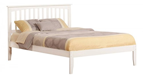 Wood Headboard Style Mission (Atlantic Furniture Mission Queen Traditional Bed in White)