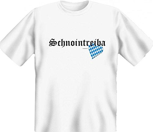 T-Shirt mit bayerischem Spruch: - Schnointreiber - deftige, witzige Schimpfwörter für´s Oktoberfest !