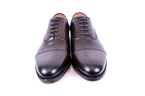Punta Marrone Oxford Da Uomo In Mike & Chris Welted