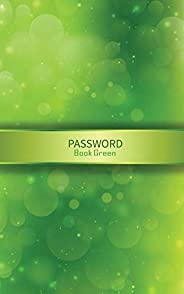 Password Book Green: Organizer for All Your Passwords with Tabs