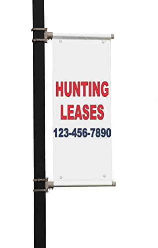 Review Hunting Leases Phone Custom Red Blue Custom Double Sided Pole Banner Sign 36 in x 72 in