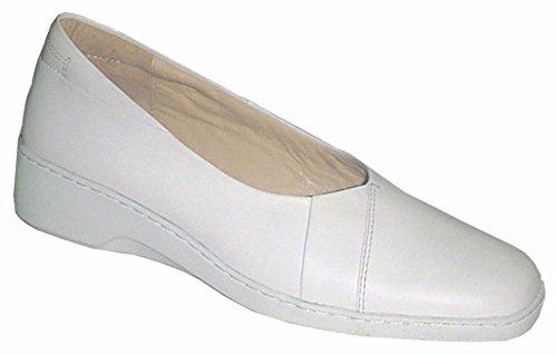 Pump Oil White Excelshoes Slip Lightweight Women's Lady Resistant amp; wCnn6xgv0q