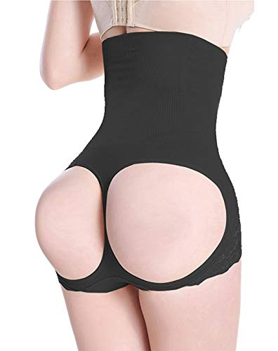 FLORATA Women Hourglass Figure Butt Lifter Shaper Panties Tummy Control High Waisted Boyshort