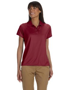 Technical Short Sleeve Polo Shirt - Chestnut Hill Women's Short Sleeve Technical Performance Polo Shirt CH365W red X-Large