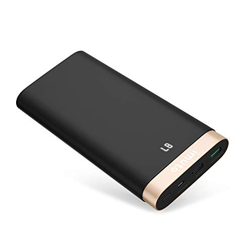 iMuto Portable Charger 20000mAh Qualcomm Certified Quick Charge 3 0 Power  Bank, QC3 0/2 0 External Battery Pack for Samsung Galaxy S9/S8/S7, Note 8,
