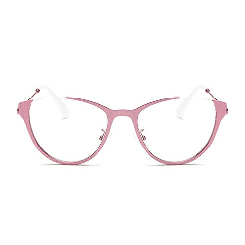 LOMOL Girls Fashion Trendy Cute Transparent Lens Cateye EyeGlasses Plain Mirror (C5, - To Prescription Order Online Where Eyeglasses