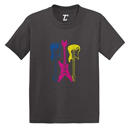 Guitars Neon - Rockstar Musician Infant/Toddler Cotton Jersey T-Shirt (Charcoal, 18 Months)
