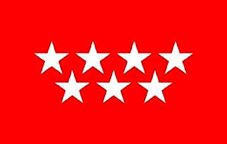 Durabol Gran Bandera Comunidad de Madrid 150 x 90 cm Satén Flag.: Amazon.es: Hogar