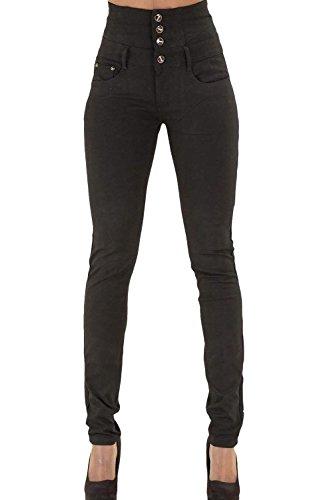 Voler Occasionnels Mupoduvos Jambires Fond Bodycon Jeans Haute Denim Noir Taille wxvPqXvO