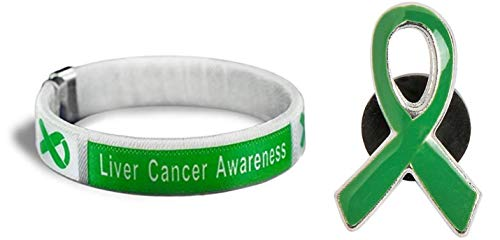 Liver Cancer Awareness Green Bangle Bracelet -