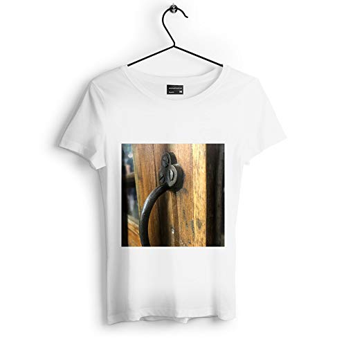 Westlake Art - Iron Lock - Unisex Tshirt - Picture Photography Artwork Shirt - White Adult Medium - White Westlake Cast