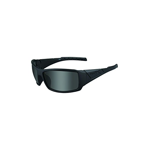 Price comparison product image Wiley X SSTWI08 Twisted, Matte Black Frame, Polarized Smoke Gray Lens Polarized Sunglasses for Military Men for Military Women