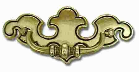Chippendale Antique English Drawer Bail Pull Centers: 3-1/4