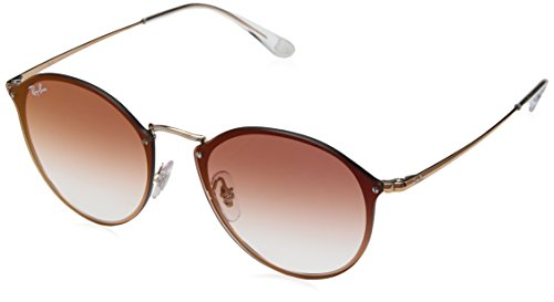 Ray-Ban Metal Unsiex Non-Polarized Iridium Square Sunglasses, Copper, 59 - Ray Parts Ban For Sunglasses
