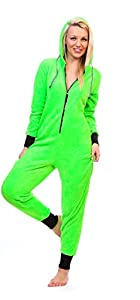 Totally Pink Women's Warm and Cozy Neon Onesie Pajama