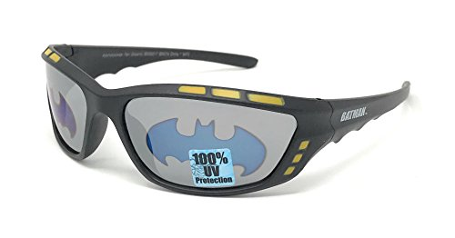 Superheroes With Glasses (DC Comics Batman Kid's Sunglasses in Black and Yellow with Bat Signal Lens)