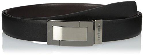 Van Heusen Men's Big-tall Men's Big And Tall Plaque Reversible Leather Belt, black/Brown, 48